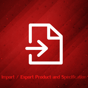 Picture of Import  Export Product and Specification attributes with excel