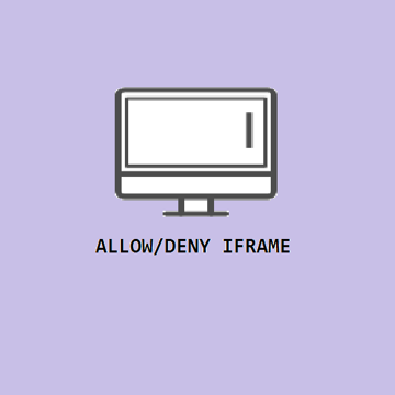 Picture of ALLOW/DENY IFRAME
